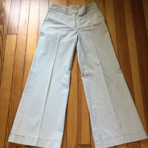 Pin striped gray and white pants